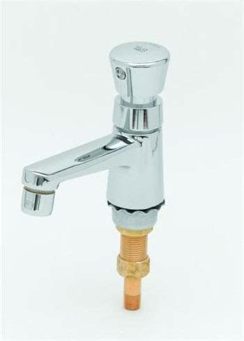 t s brass b 0712 push button metering faucet chrome