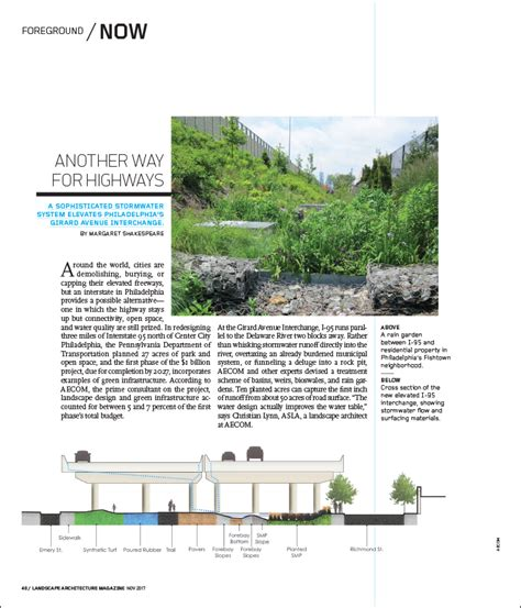 Landscape Architecture Journal Another Way For Highways Landscape Architecture Magazine