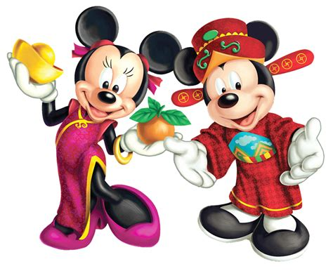 mickey minnie international clipart