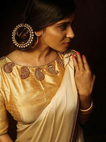 High Neck Blouse With Kerala Saree by Now Here Is Why You Should Up The Gorgeous Kerala