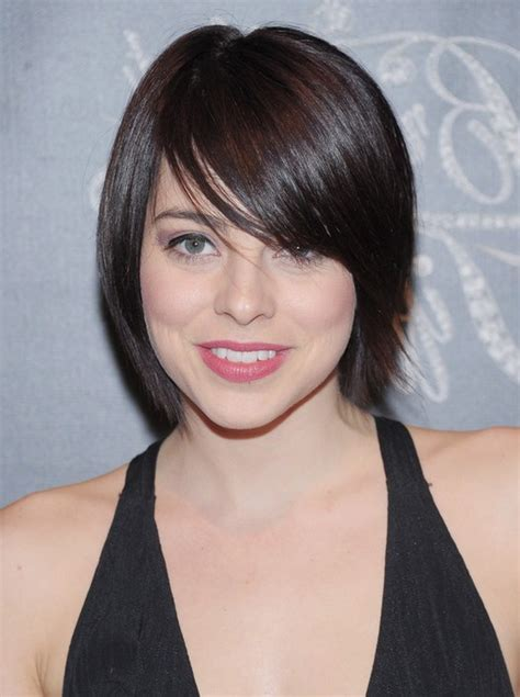 short hair styles swoop bangs pictures of short hairstyles with side swept bangs
