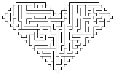 printable heart maze free coloring pages of cake wedding maze