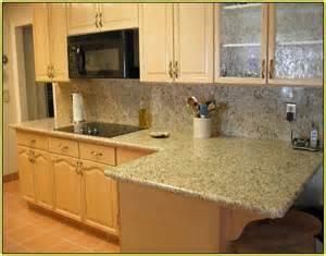 Kitchen Color Ideas With Oak Cabinets giallo vitoria granite home depot home design ideas