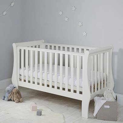 Sleigh Cot Bed White Classic Sleigh Cot Bed The White Company Uk