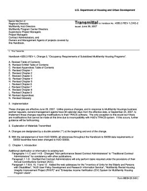 Hud Housing Application by Hud Fillable Forms 50059 Fill Printable
