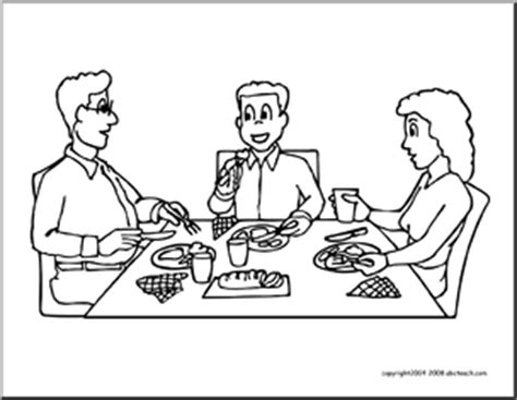 family dinner coloring page coloring page family dinner abcteach