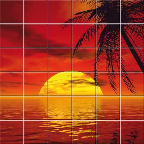 adesivo piastrelle adesivi follia adesivo per piastrelle mare tramonto