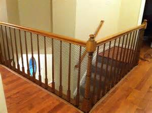 Banister Guard by Cheap Way To Child Proof A Stairway With Banisters Which