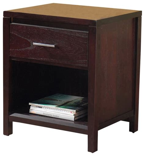 bedside table charging station modus nevis charging station nightstand in espresso traditional nightstands and bedside