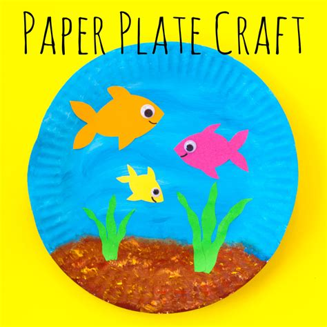 How To Make A Paper Plate Fish - paper plate fish bowl doodle and stitch