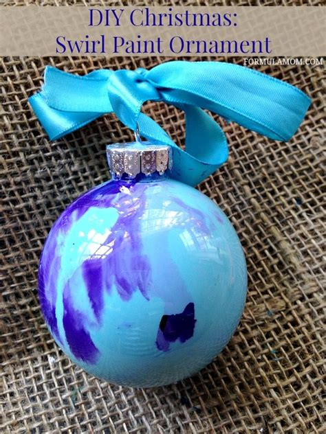 how to make paint swirled ornaments 12 days of diy ornaments swirl paint ornament diy