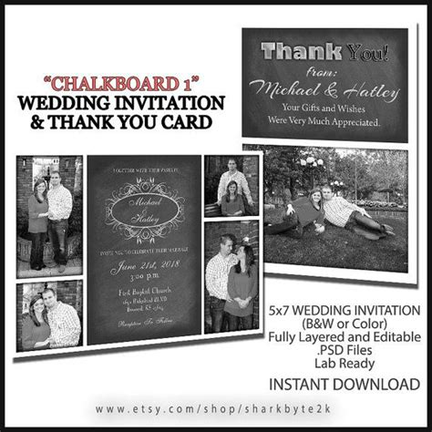 Chalkboard Thank You Card Template by 124 Best Photoshop Templates Designs Images On