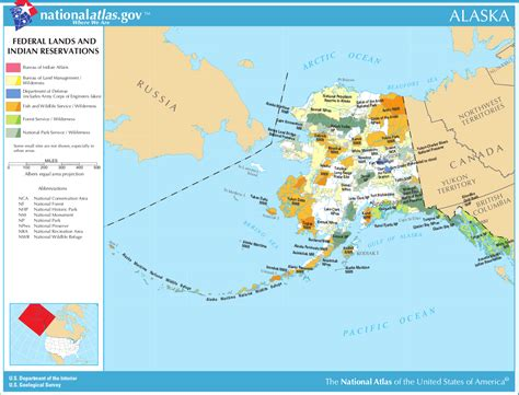 indian reservations usa map map of alaska map federal lands and indian reservations