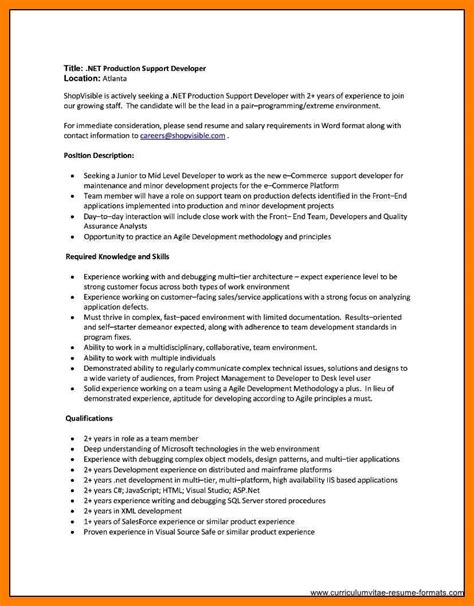 sap bi sle resume for 2 years experience resume format for two year experience 28 images