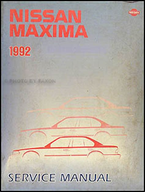 car repair manual download 1992 nissan maxima spare parts catalogs 1992 nissan maxima repair shop manual original