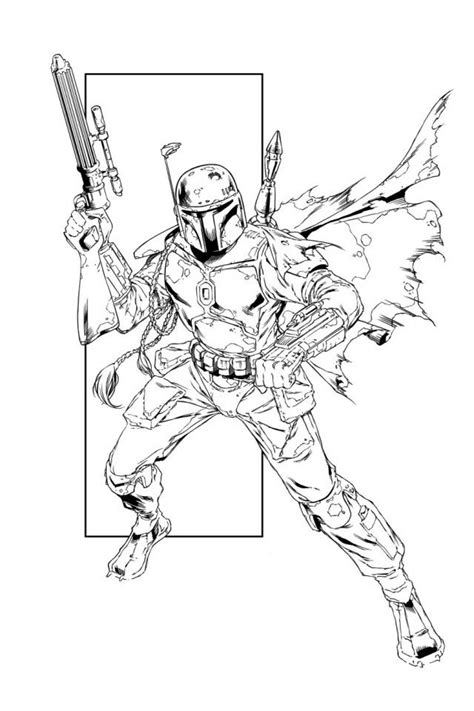 Lego Boba Fett Coloring Page by Boba Fett Coloring Pages To And Print For Free