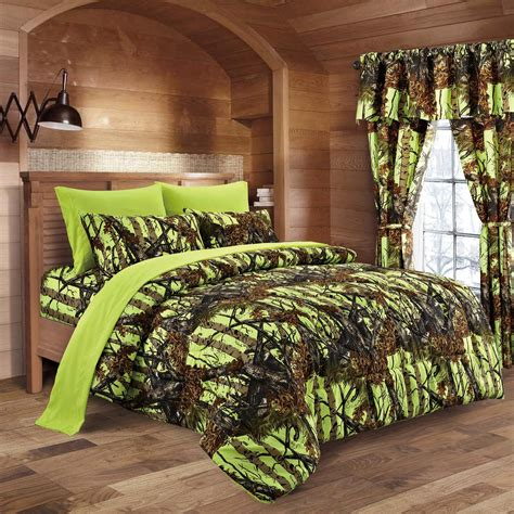 camo bedding sets lime camo bed in a bag set the sw company