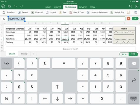 Excel Spreadsheet App by Excel For The Macworld Review Macworld
