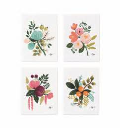 flagship tattoo botanical assorted card set by rifle paper co made in usa