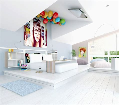 fun girl bedroom ideas 7 white fun bedroom tv on ceiling interior design ideas