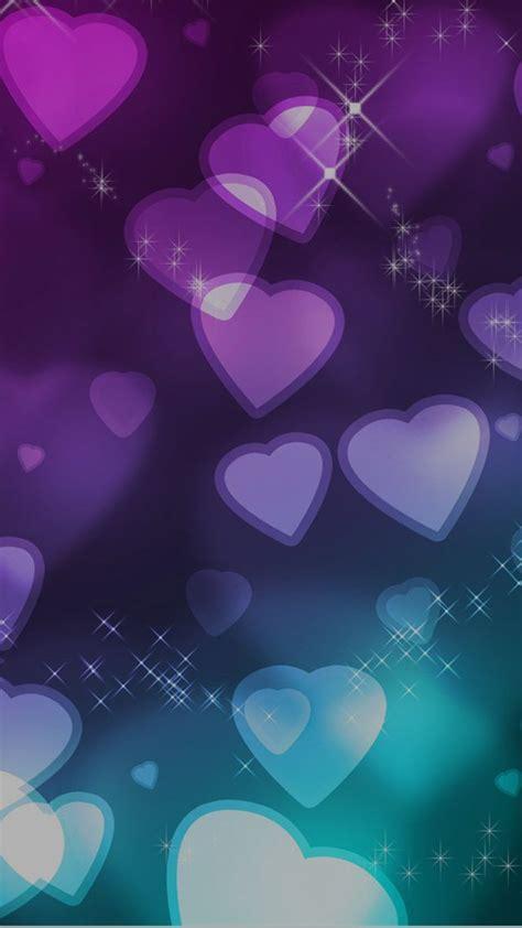 purple heart love wallpaper  iphone  wallpaper