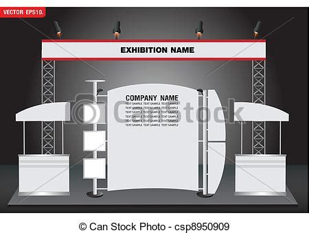 exhibition booth design vector eps vectors of vector exhibition booth design csp8950909