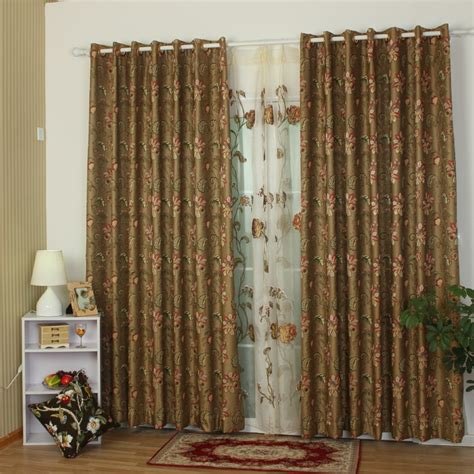 European Style Curtains Luxury European Style Blackout Curtain With Jacquard Floral Pattern
