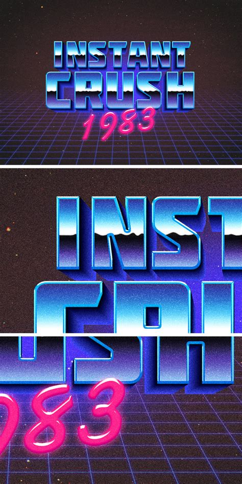 typography effects 80s retro typography effect graphicburger