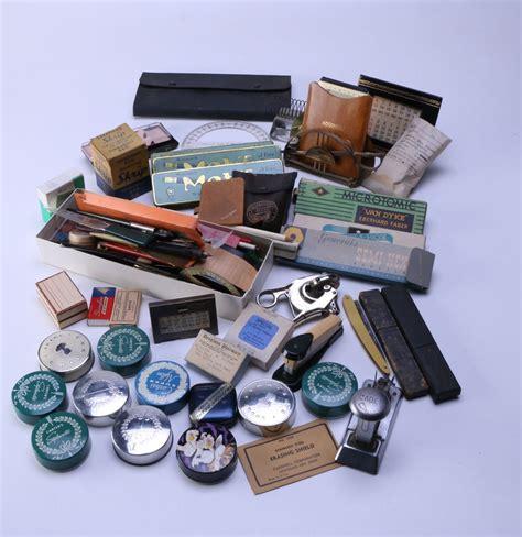 assortment of vintage office supplies ebth
