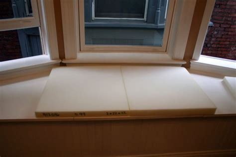 a window seat cushion cover how to make no sew window seat cushions craft room update