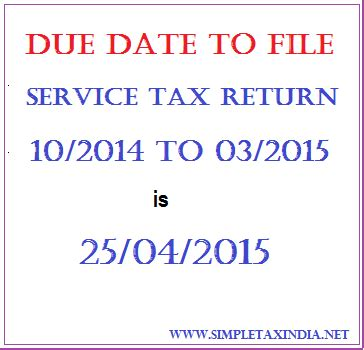 Service tax return filing due date for 2011-12