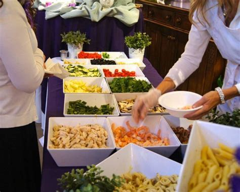 Pasta bar   fun for a crowd   Family Reunion Ideas in 2019