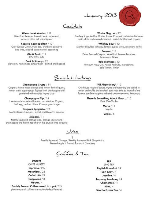 and duck menu 3 of 14 price lists menus duck waffle restaurant and bar