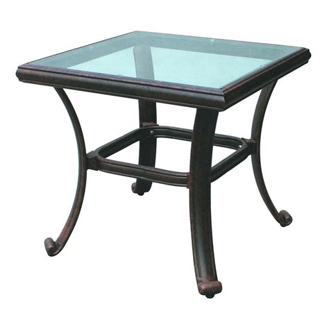 24 Inch Square Glass Top Table Top Notch
