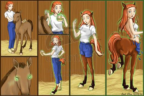 male to female transformation centaur centaur transformation comic by bellsandy on deviantart