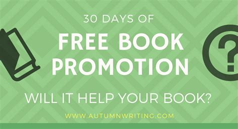 30 days of books results from 30 days of free book promotion autumn writing