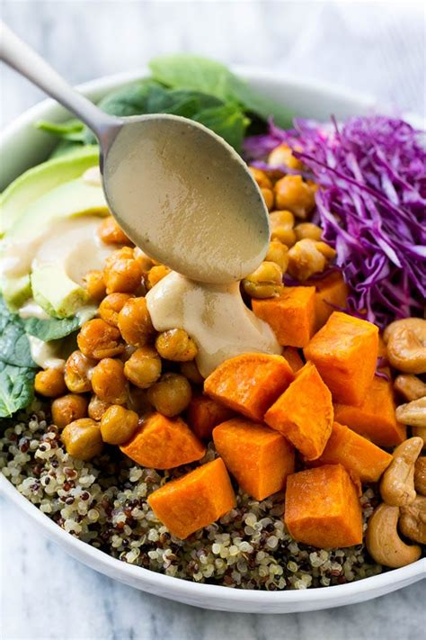 Easy Appetizers by Buddha Bowls With Sweet Potatoes And Chickpeas Dinner At