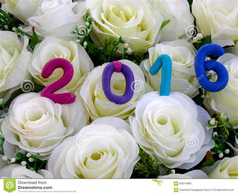 new year flower background new year 2016 stock photo image 63014980