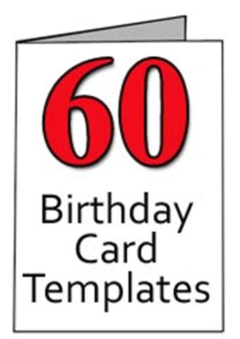 Happy 60th Birthday Card Template by Free 60th Birthday Card Templates For Word