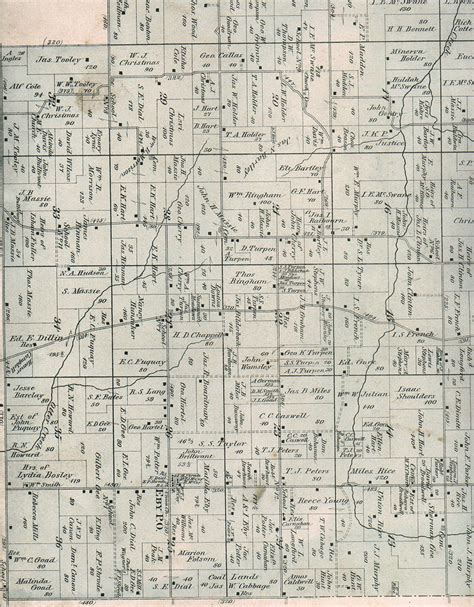 Warrick County Records 1880 Maps Of Warrick County