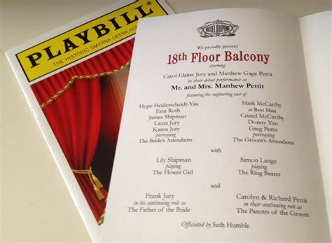 16 Best Paper Theater Playbill Images On Pinterest Wedding Stationery Wedding Stuff And Playbill Program