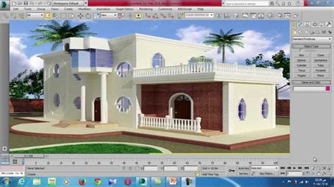 interior and exterior design using 3d max studio