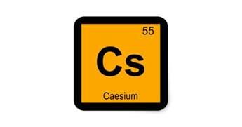 Cs Periodic Table Cs Caesium Chemistry Periodic Table Symbol Square