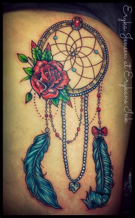 dreamcatcher garter tattoo girly dreamcatcher tattoo erykane tattoo pinterest