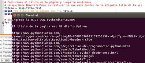 web scraping con python underc0de web scraping con python y beautifulsoup mi diario python