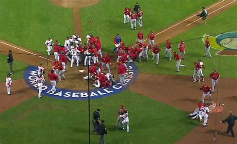bench clearing brawl benches clear mexico canada homes decoration tips