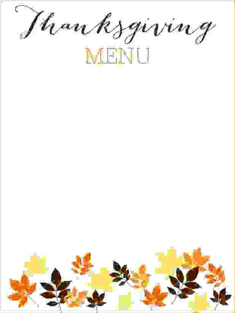 free thanksgiving email templates 6 thanksgiving menu template procedure template sle