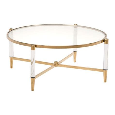 Clear Acrylic Coffee Table Clear Acrylic Gold Coffee Table Modern Furniture Brickell Collection