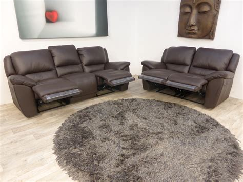 zolano sofa zolano genuine full leather 3 2 brown manual recliners
