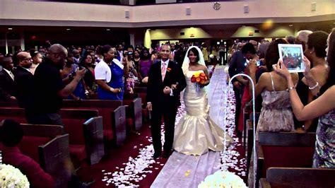 bridal entrance brandon and christi s wedding youtube